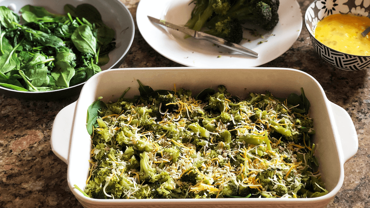 Lean Mean & Super Green Veggie Casserole Recipe | Low Carb & Gluten Free